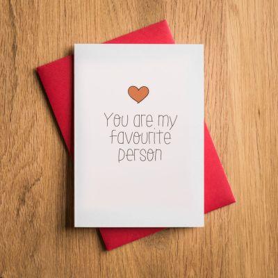 Cadeau Saint Valentin Homme - Carte de Saint-Valentin - Tu Es Ma Personne Préférée