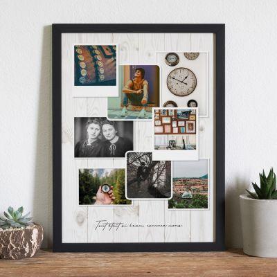 Cadeau d'adieu - Poster Photo Personnalisable - Look Vintage