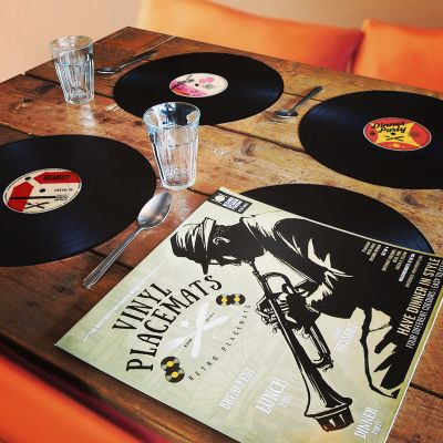 Top 50 pour Hommes - Sets de table Vinyle – lot de 4