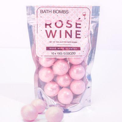 Idées cadeaux pour mettre dans le calendrier de l'avent - Bombes de bain – Vin rosé