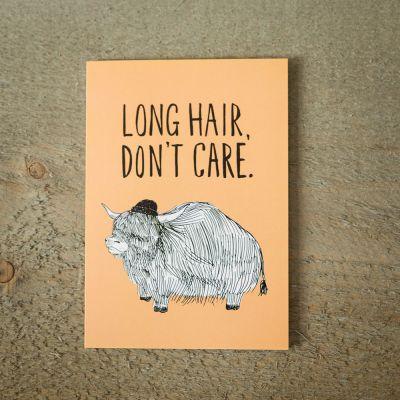 Carte de vœux Long Hair
