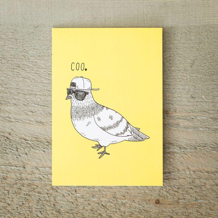 Carte de vœux Pigeon Cool