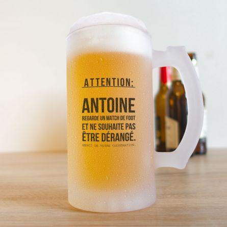 Chope à Bière pour les Fans de Football