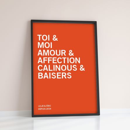 You + Me + … - Poster Personnalisable