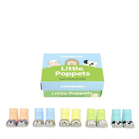 Chaussettes Animaux pour Bébés - Ensemble de 5 paires