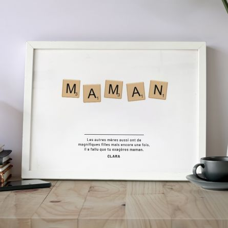 Poster Personnalisable Scrabble