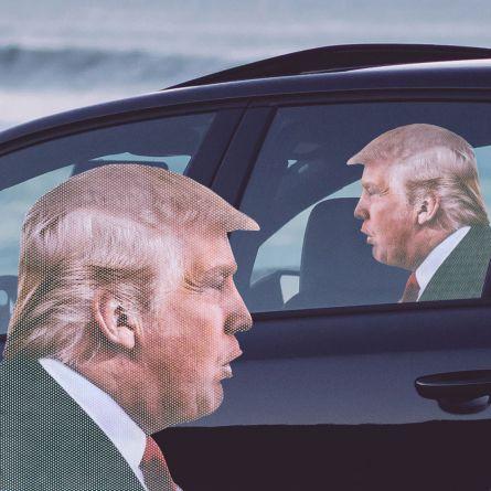 Autocollant de voiture Trump