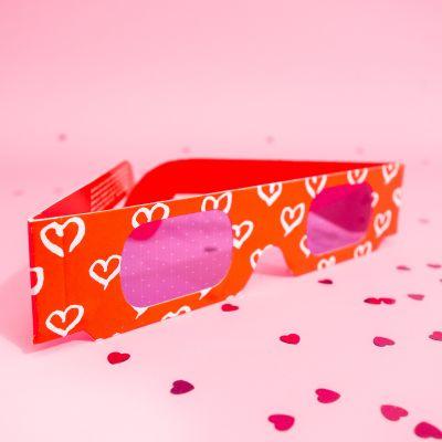 Jeux & Farces - Lunettes 3D avec Coeurs