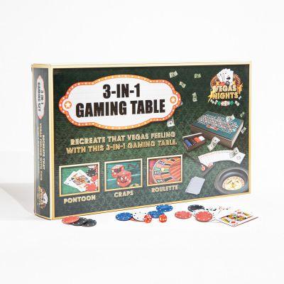 Jeux & Farces - Table de Jeux Vegas Nights 3 en 1
