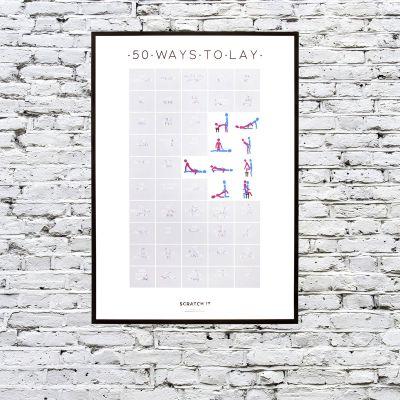 Cadeau frère - Poster à Gratter 50 Positions