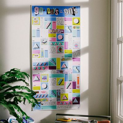 Posters - Poster à Gratter - 90 Days in the 90's