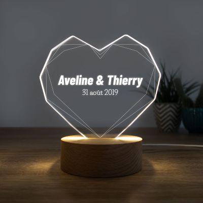 Cadeau de Noël - Lampe LED avec Cœur