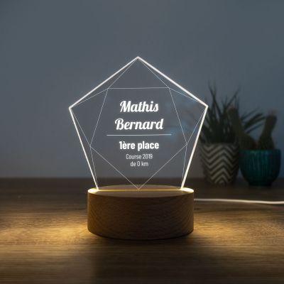 Cadeau 50 ans - Lampe LED avec Étoile