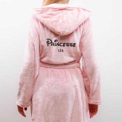 Cadeau pour sa copine - Peignoir princesse personnalisable