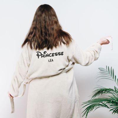 Trouver un cadeau - Peignoir princesse personnalisable