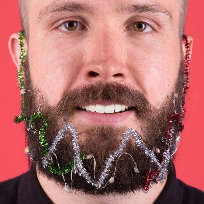 Idées cadeaux pour mettre dans le calendrier de l'avent - Weihnachts-Licht-Girlande für den Bart