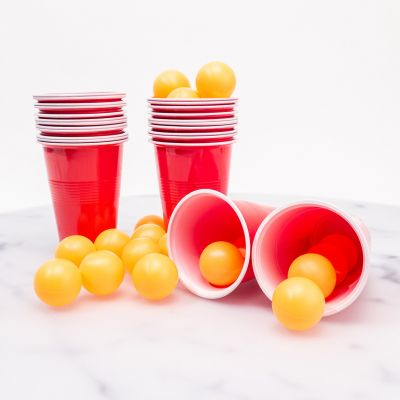 Jeux & Farces - Kit Beer Pong (24 balles & 24 gobelets)