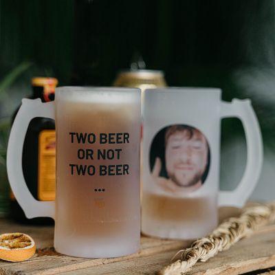 Sale - Chope de bière personnalisable avec photo et texte