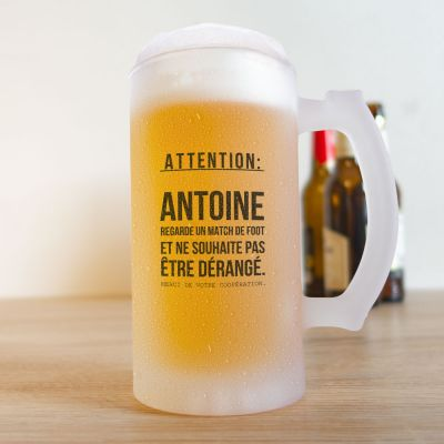 Cadeau pour son copain - Chope à Bière pour les Fans de Football