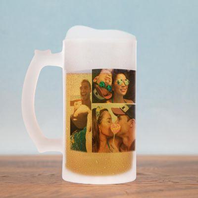 Cadeau 30 ans - Chope de bière avec 5 Photos