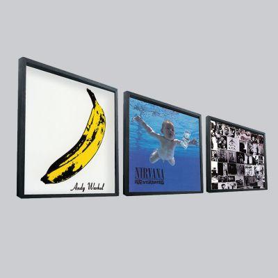 Cadeau 40 ans - Cadre pour vinyles LP - 33 tours