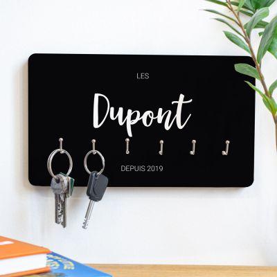 Cadeau crémaillère - Porte-clés Mural personnalisable avec nom