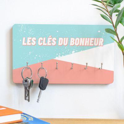 Décoration & Mobilier - Porte-clés Mural personnalisable avec texte