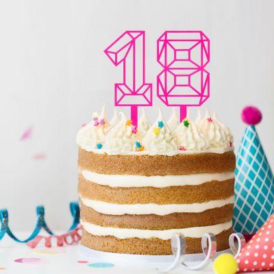 Cadeau 50 ans - Décoration pour Gâteaux en forme de Chiffre