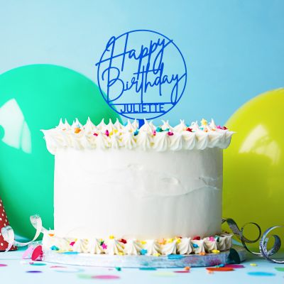 Cadeau anniversaire - Décoration Personnalisable pour Gâteau d'Anniversaire
