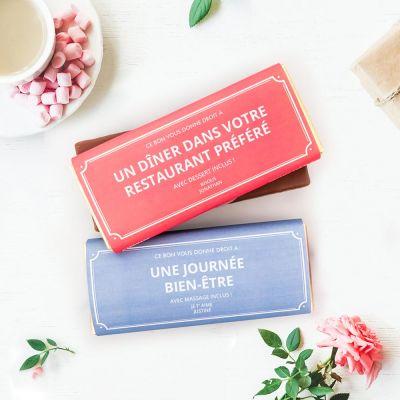Chocolats exclusifs - Bon Cadeau Personnalisable - Avec Chocolat
