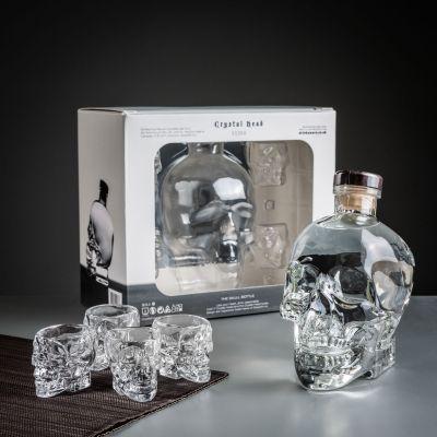 Cadeau frère - Crystal Head Wodka Geschenke-Set mit Gläsern