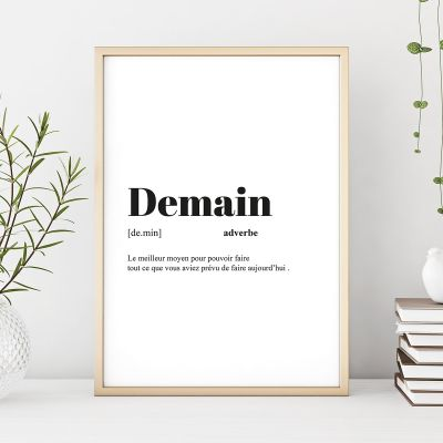 Cadeau 50 ans - Poster Personnalisable Définition
