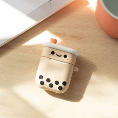 Cadeaux rigolos - Boîtier de charge d'Airpods Bubble Tea