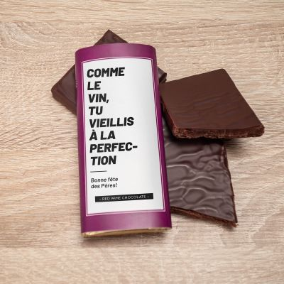 Chocolat au vin rouge personnalisable
