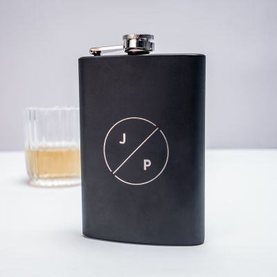 Cadeau 50 ans - Flasque personnalisable avec initiales