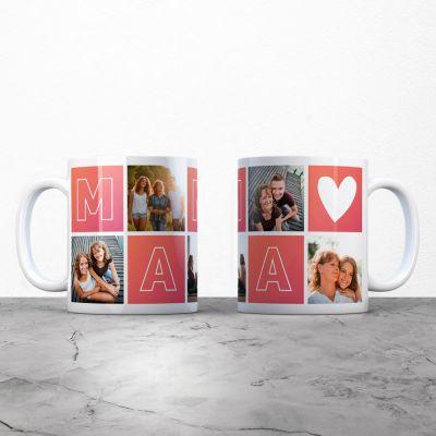 Cadeau fête des mères - Tasse personnalisable maman avec images