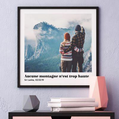 Posters exclusifs - Poster avec Photo et Texte