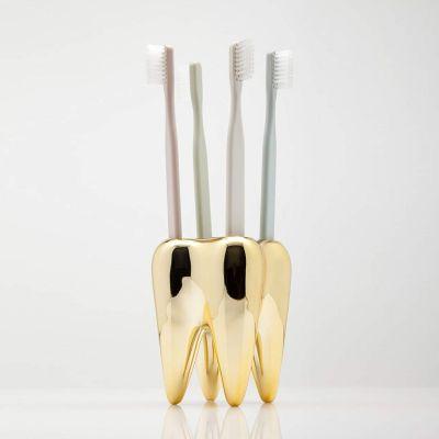 Cadeau crémaillère - Porte-brosses à dents - Dent en or