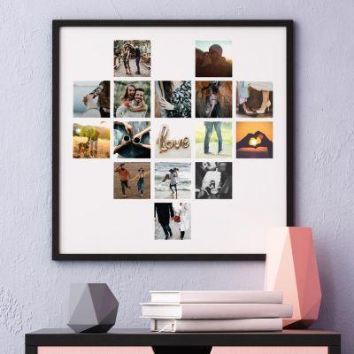 Posters exclusifs - Poster Photo Personnalisable en forme de cœur