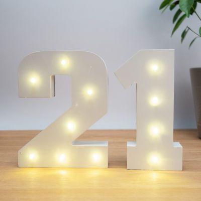 Cadeau Anniversaire Copine - Numéros Lumineux en Bois