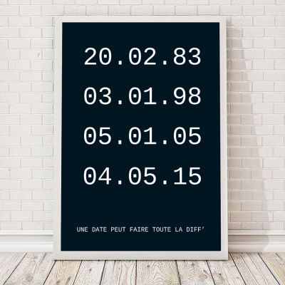 Posters exclusifs - Dates importantes – Poster personnalisable