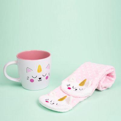 Chaussettes et Tasse Kittycorn