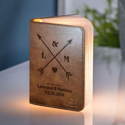 Éclairage - Lampe Livre Personnalisable pour Couples