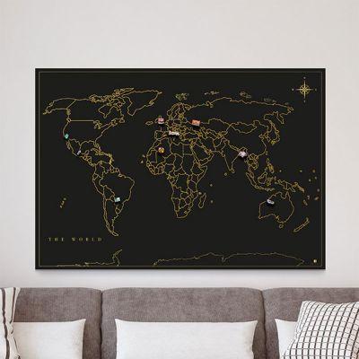 Cadeau frère - Carte du Monde des Aimants