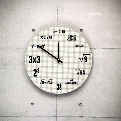 Cadeau crémaillère - Horloge Mathématiques