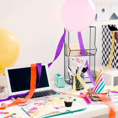 Cadeau anniversaire - Coffret Fête d'Anniversaire au Bureau