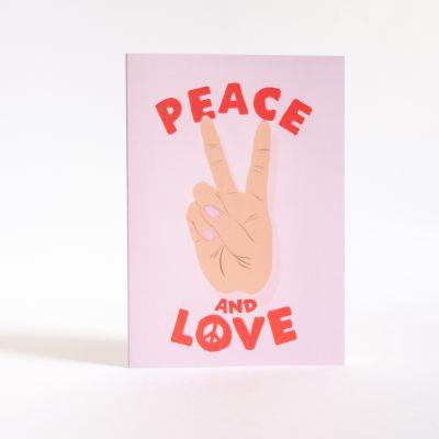 Cartes - Carte de vœux Peace & Love