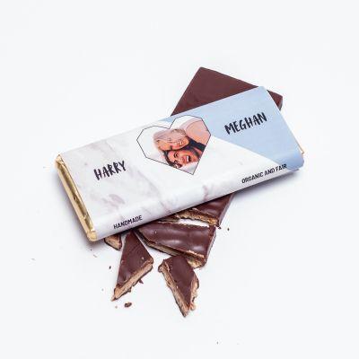 Chocolats exclusifs - Chocolat Personnalisable Photo, Cœur & Texte