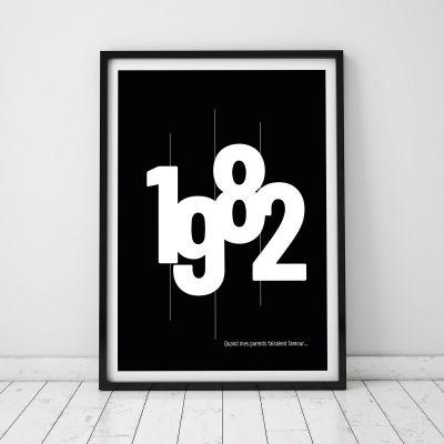 Cadeau 50 ans - Année de Naissance - Poster Personnalisable