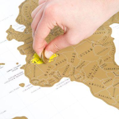 Cadeau 40 ans - Carte du monde à gratter
